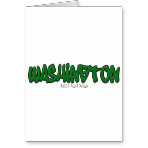 Washington Graffiti Greeting Card
