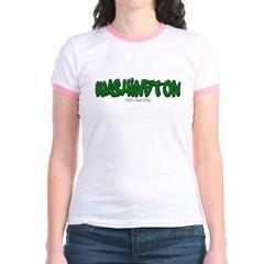 Washington Graffiti Junior Ringer T-Shirt