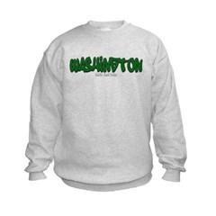 Washington Graffiti Kids Crewneck Sweatshirt by Hanes