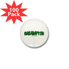 Washington Graffiti Mini Button (100 pack)