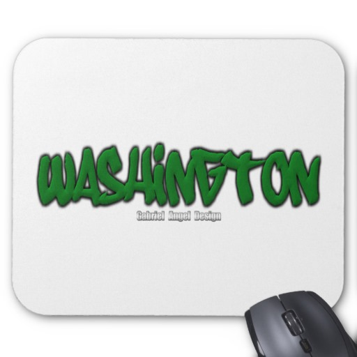 Washington Graffiti Mousepad