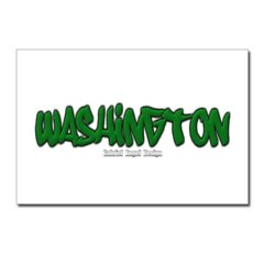 Washington Graffiti Postcards (Package of 8)