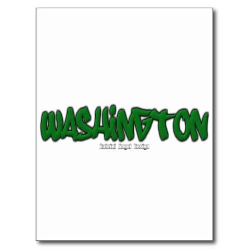 Washington Graffiti Postcard