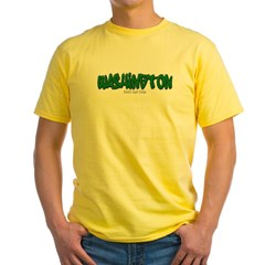 Washington Graffiti Yellow T-Shirt