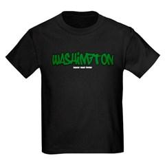 Washington Graffiti Youth Dark T-Shirt by Hanes