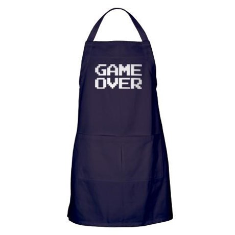 Game Over Apron (dark)