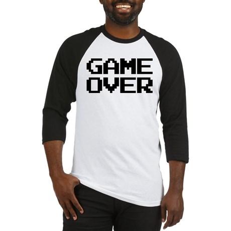 Game Over Baseball Jersey T-Shirt