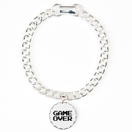 Game Over Bracelet with Round Charm