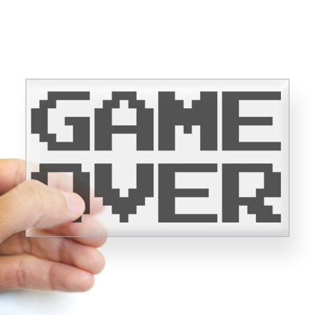Game Over Clear Decal
