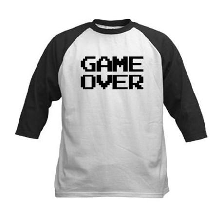 Game Over Kids Baseball Jersey T-Shirt