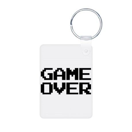Game Over Rectangle Keychains