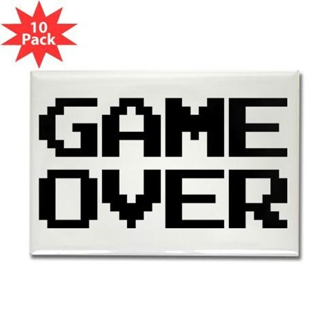 Game Over Rectangle Magnet (10 pack)