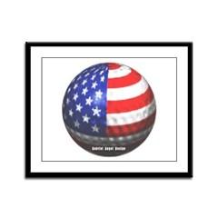 American Golf Framed Panel Print
