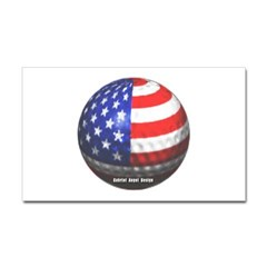 American Golf Rectangle Decal