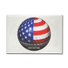 American Golf Rectangle Magnet