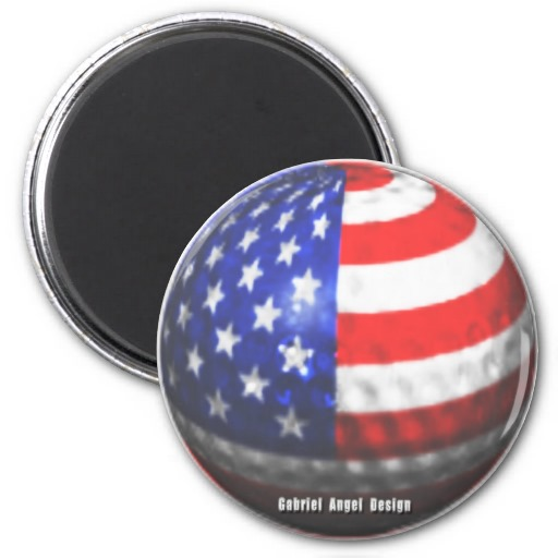 US Golf 2 Inch Round Magnet