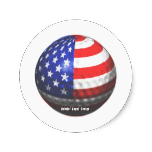 US Golf Classic Round Sticker