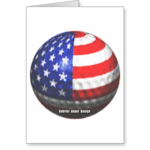 US Golf Greeting Card