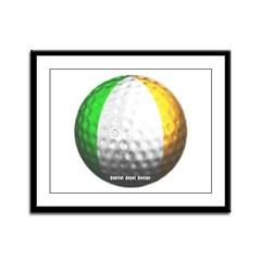 Ireland Golf Framed Panel Print