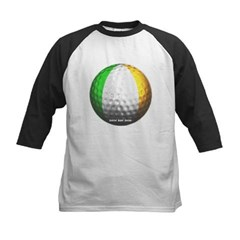 Ireland Golf Kids Baseball Jersey T-Shirt