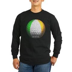 Ireland Golf Long Sleeve Dark T-Shirt