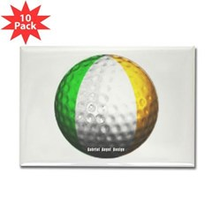 Ireland Golf Rectangle Magnet (10 pack)