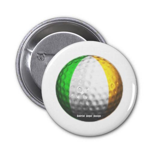 Irish Golf 2 Inch Round Button