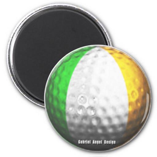 Irish Golf 2 Inch Round Magnet