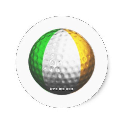 Irish Golf Classic Round Sticker