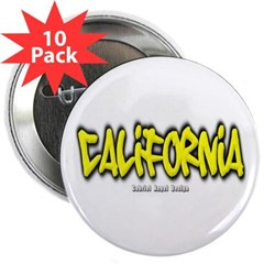 "California Graffiti 2.25"" Button (10 pack)"