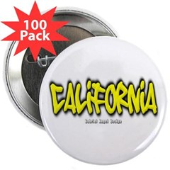"California Graffiti 2.25"" Button (100 pack)"