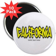 "California Graffiti 2.25"" Magnet (10 pack)"