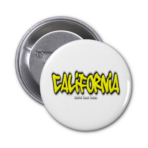 California Graffiti 2 Inch Round Button