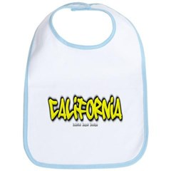 California Graffiti Baby Bib