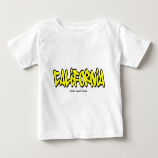 California Graffiti Baby Fine Jersey T-Shirt