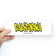 California Graffiti Bumper Sticker