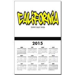 California Graffiti Calendar Print