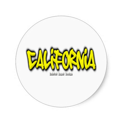 California Graffiti Classic Round Sticker