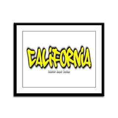 California Graffiti Framed Panel Print