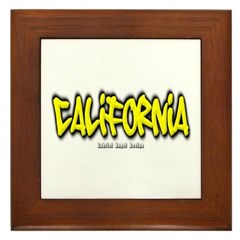 California Graffiti Framed Tile