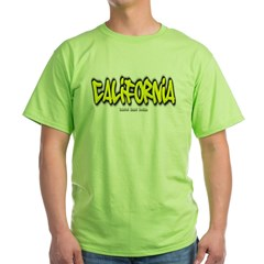California Graffiti Green T-Shirt