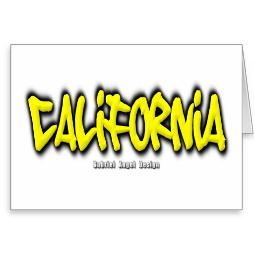 California Graffiti Greeting Card