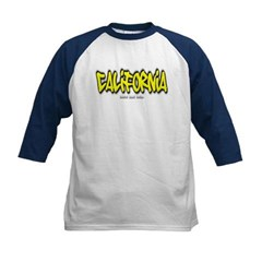 California Graffiti Kids Baseball Jersey T-Shirt