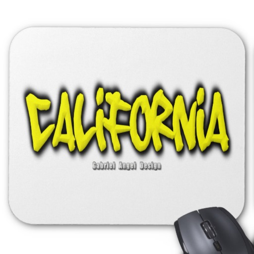 California Graffiti Mousepad
