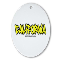 California Graffiti Ornament (Oval)