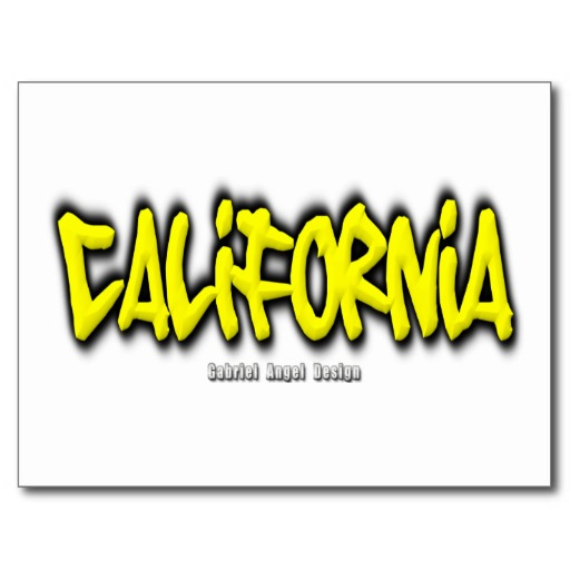 California Graffiti Postcard