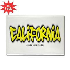 California Graffiti Rectangle Magnet (10 pack)