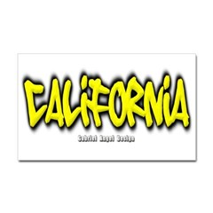 California Graffiti Sticker (Rectangular)
