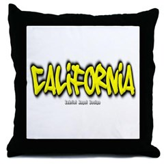 California Graffiti Throw Pillow