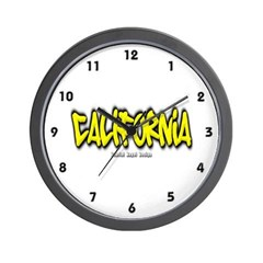 California Graffiti Wall Clock